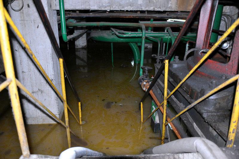 Kletni prostori TENTa iz katerih smo prečrpavali vodo