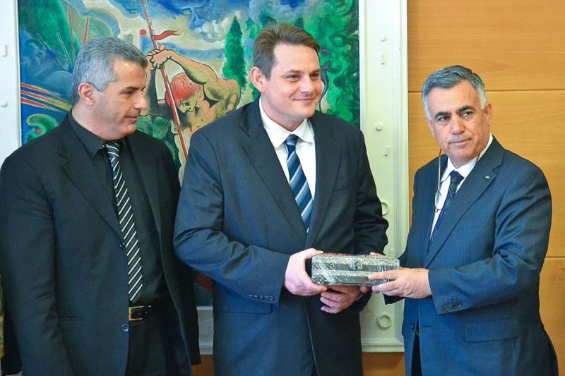 V Občini Šentjur palestinski minister z delegacijo