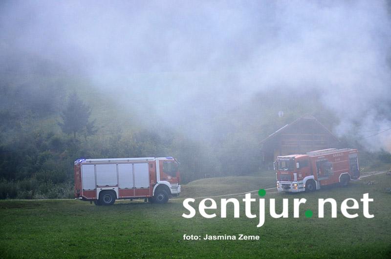 Gasilci uspešno preprečili širjenje požara
